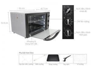 Sản phẩm đi kèm của Lò nướng Electrolux EOT38MBB