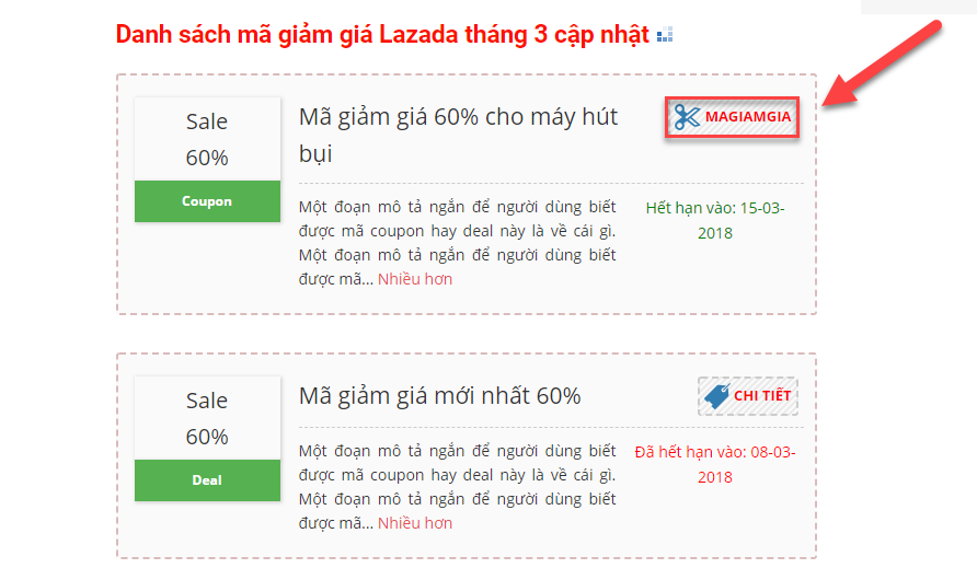 Copy mã giảm giá Lazada trên đánh giá lớn