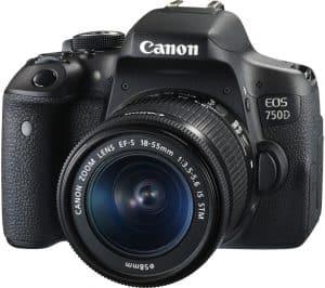 佳能750D +镜头18-55 IS STM相机