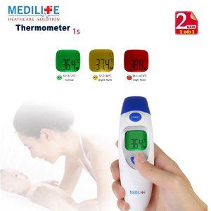 Nhiệt kế điện tử hồng ngoại đo tai và trán Medilife IT - 121