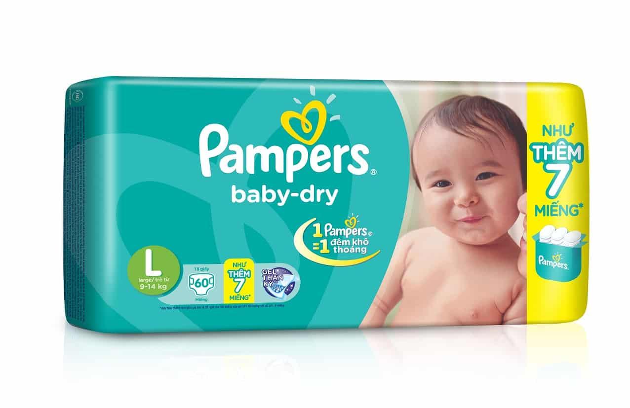 Bỉm cho trẻ Pamper