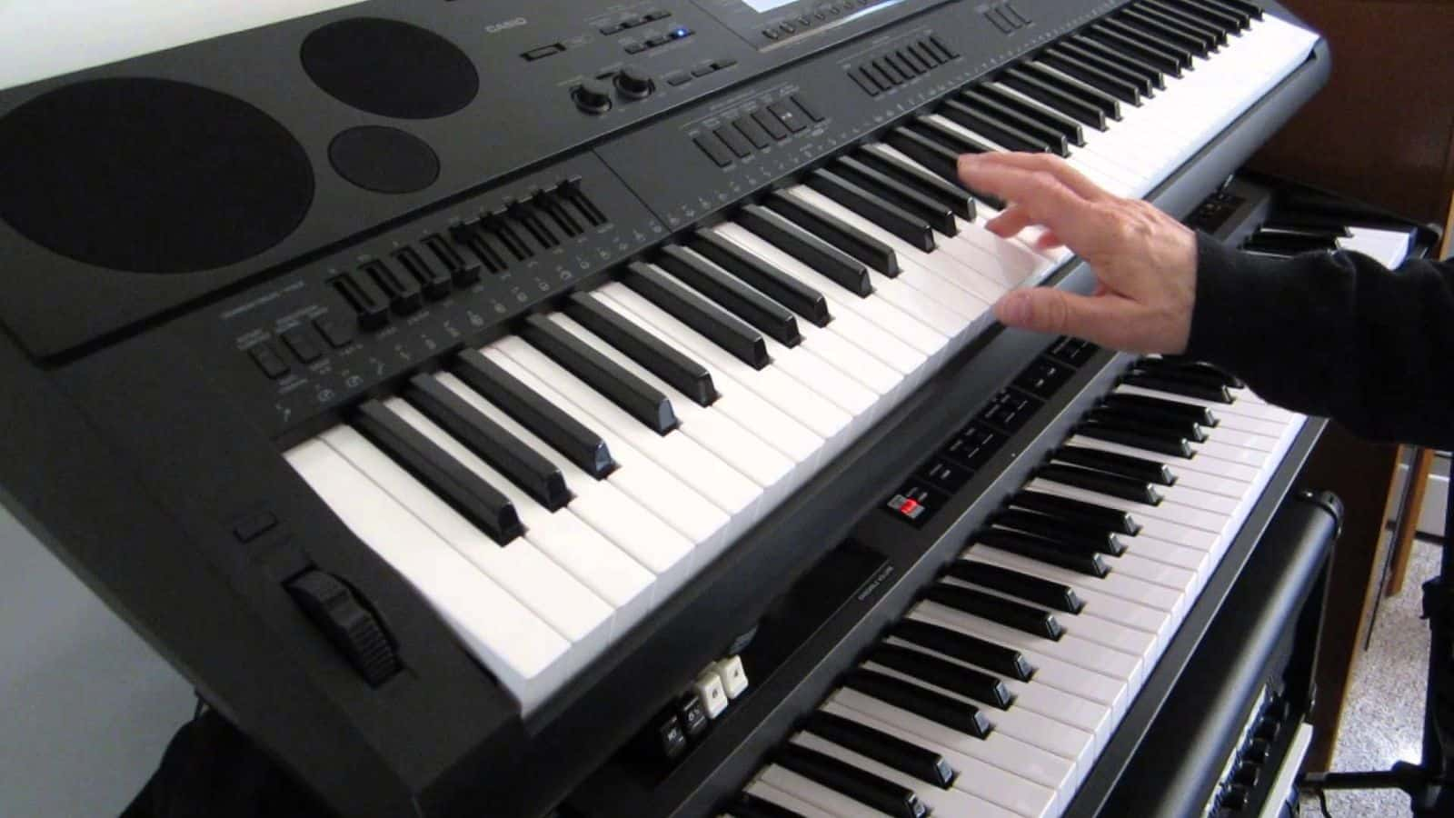 bàn phím piano và organ