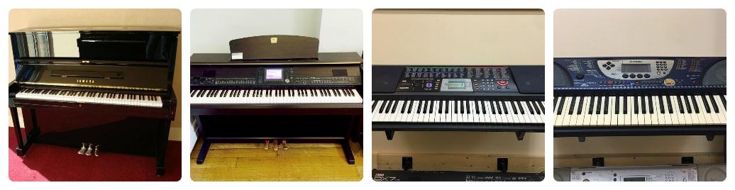 sự khác biệt của đàn piano vàorgan