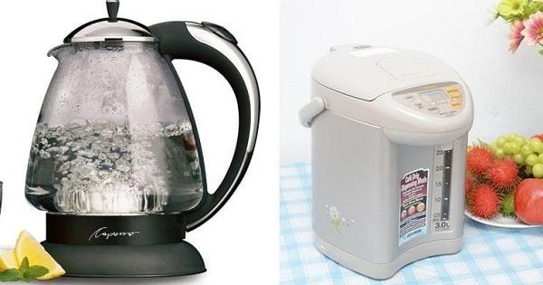 chọn ấm hay bình thủy điện