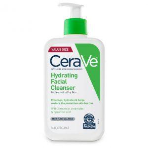 sua rua mat Cerave hydrating cleanser
