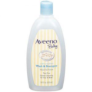 sua tam tri rom Aveeno Baby Wash and Shampoo