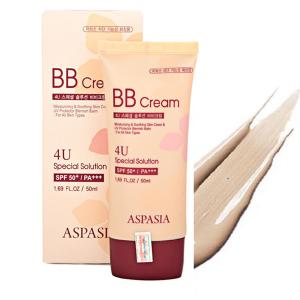 kem nền aspasia 4u b.b cream spf50 pa+++ 50ml