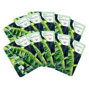 mặt nạ giấy 3w clinic fresh greentea mask sheet 100% cotton