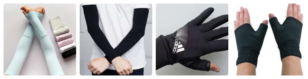 có những loại găng tay chống nắng nào