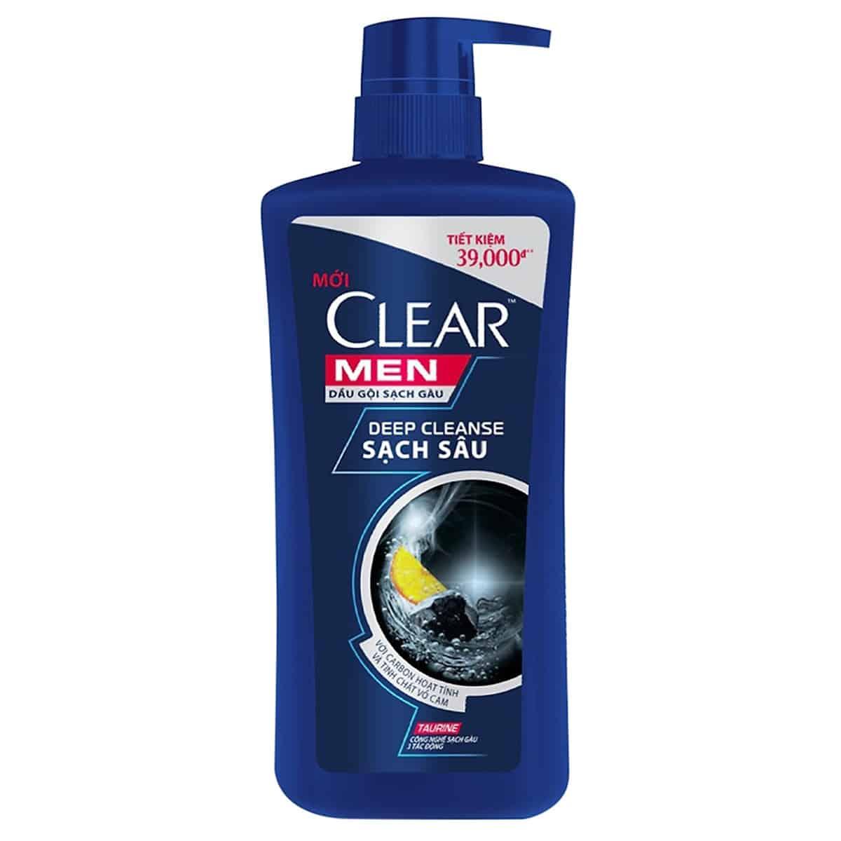 Dầu gội trị gàu cho nam chính hãng Clear Men 650g