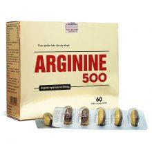 Thuốc bổ gan dạng viên Arginine 500 A009 60 viên