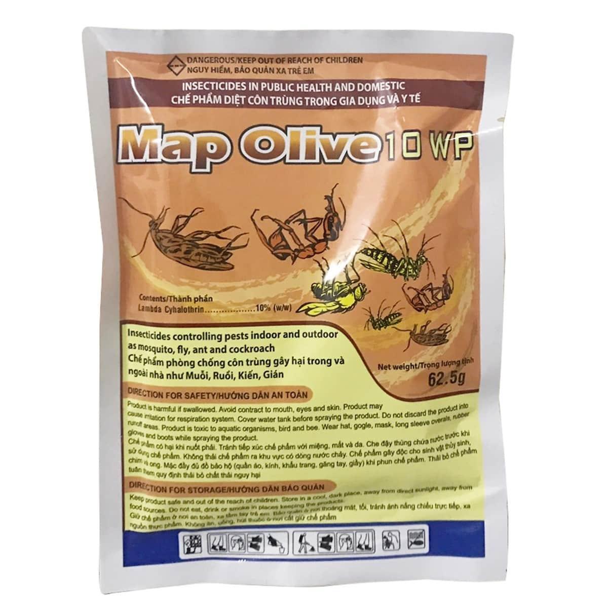 Thuốc diệt muỗi côn trùng bột Map Olive 62g
