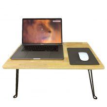 Bàn laptop đa năng xếp gọn gỗ cao su