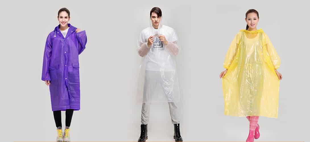 thiết kế và màu sắc áo mưa