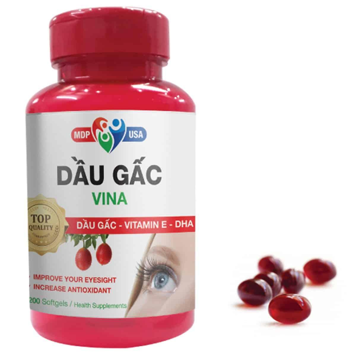 Thuốc bổ mắt bổ sung dầu gấc Vina Softgels MDP