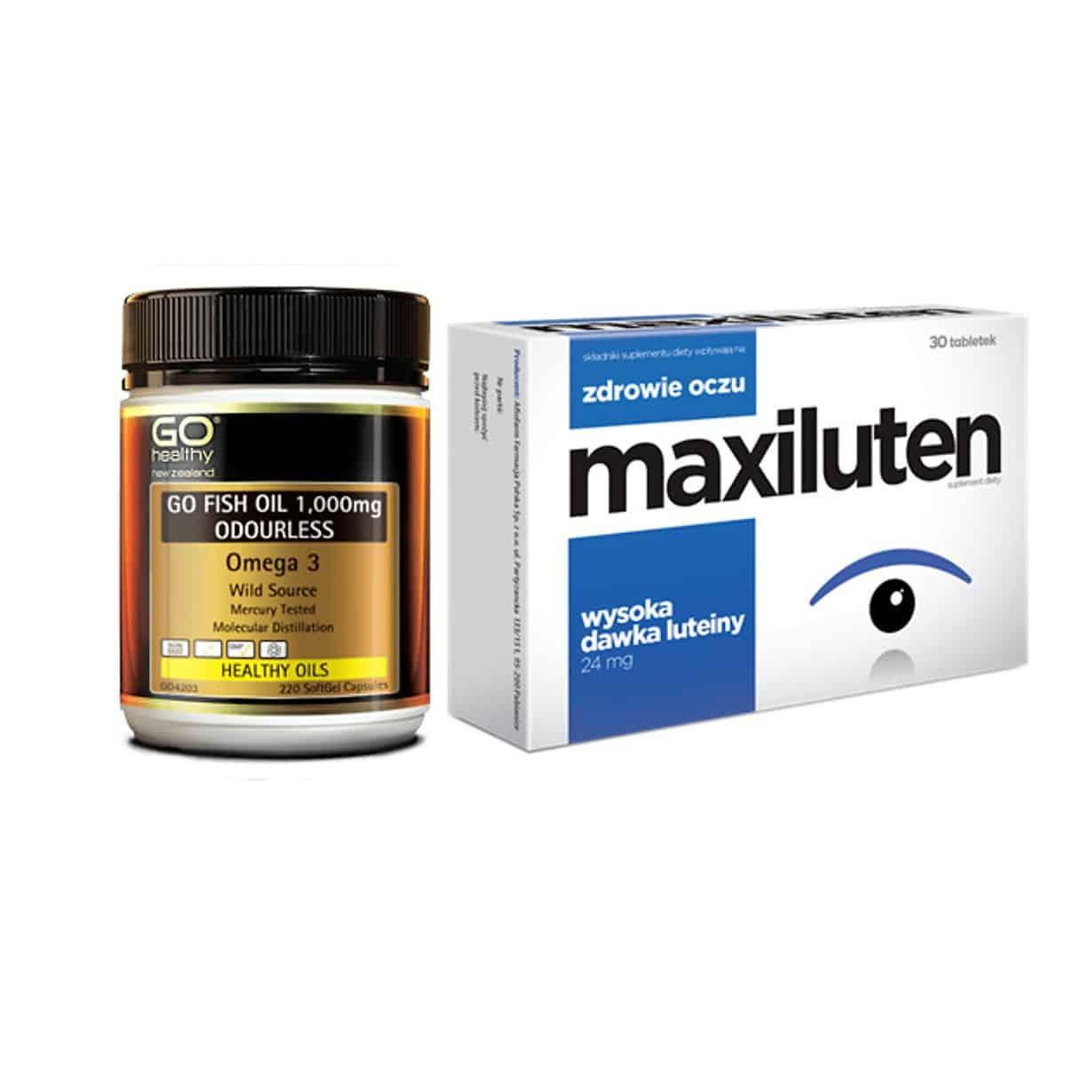 Thuốc bổ mắt Omega 3 Go Fish Oil và viên Maxiluten
