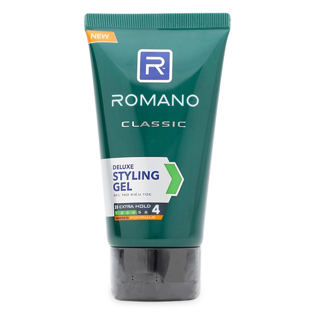 Gel vuốt tóc nam giữ nếp Romano Classic 150g