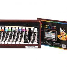 Màu nước cao cấp 12 tuýp vẽ Acrylic