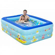 Bể bơi cho bé giá rẻ 3 tầng hình chữ nhật