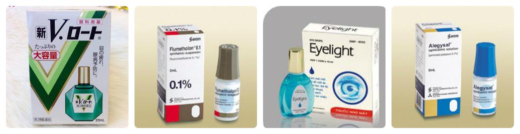 có những loại thuốc nhỏ mắt nào