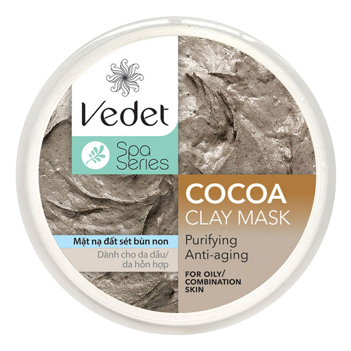 Mặt nạ đất sét Cocoa bùn non Vedet 140g