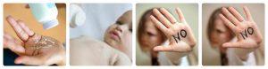 những rủi ro khi dùng phấn cho em bé
