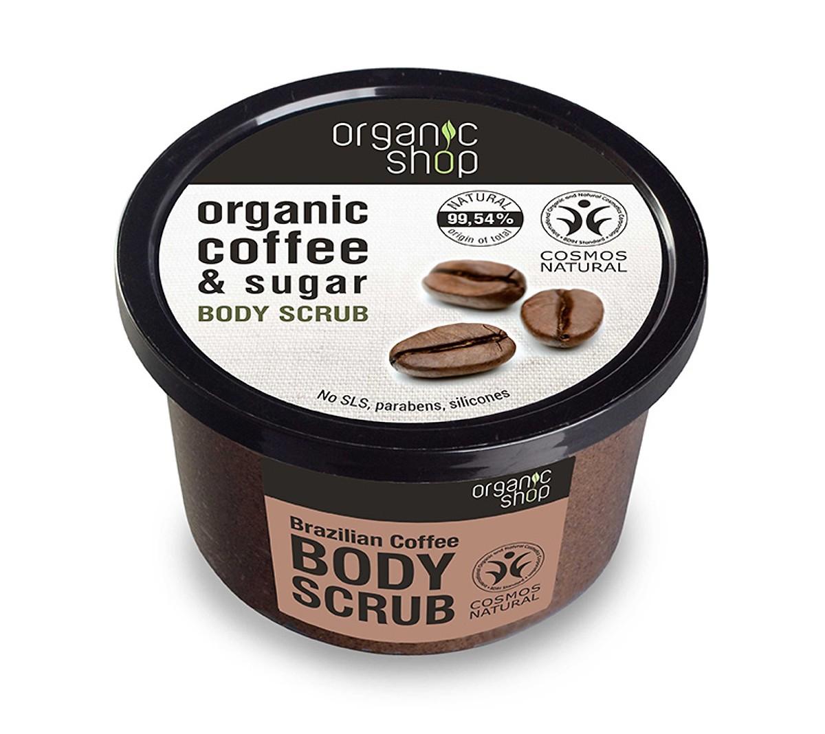 Tẩy da chết toàn thân Organic Shop Organic Coffee