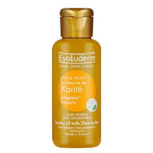 tinh dầu massage bơ huile karite evoluderm 100ml