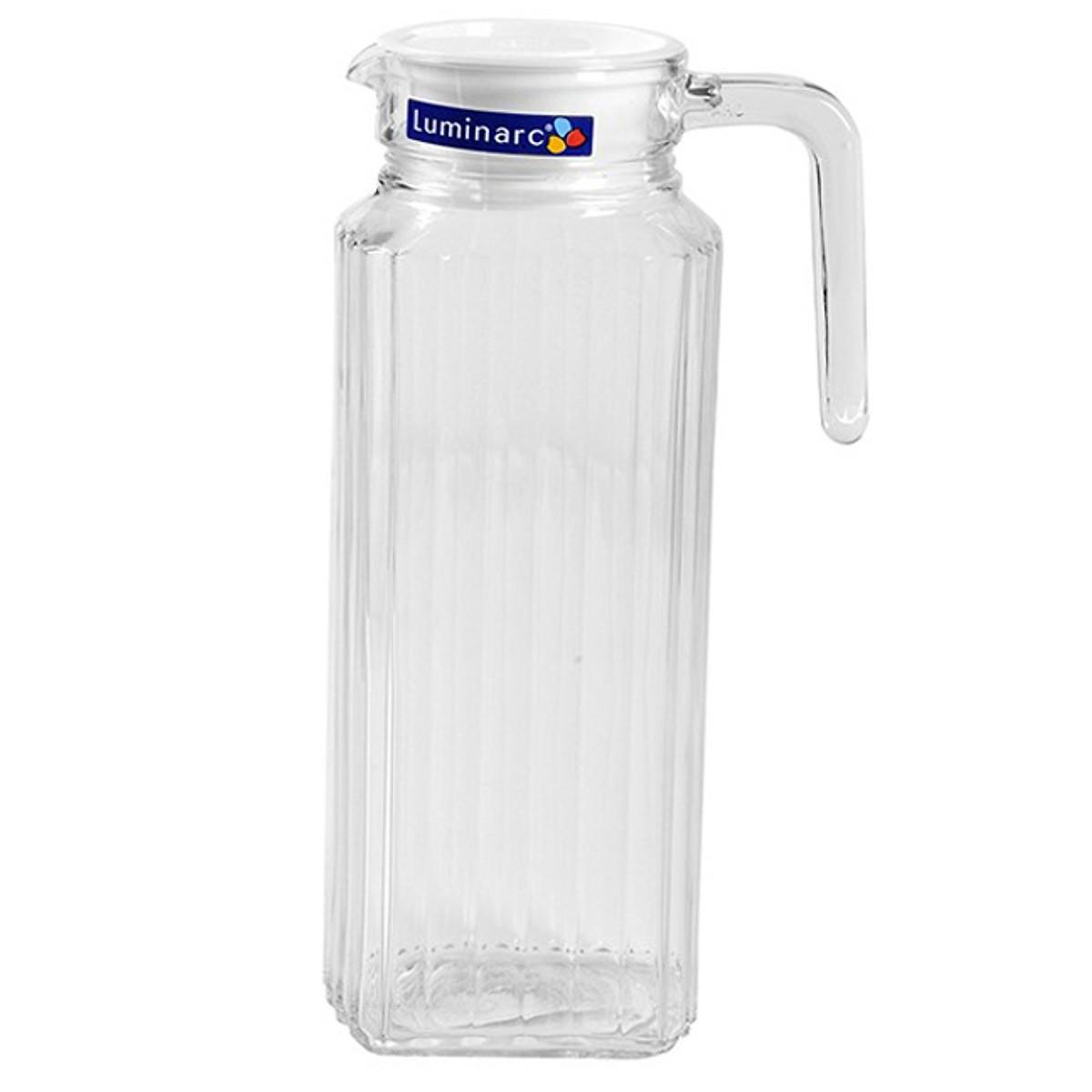 Bình đựng nước thủy tinh Luminarc Quadro 1.3 lít