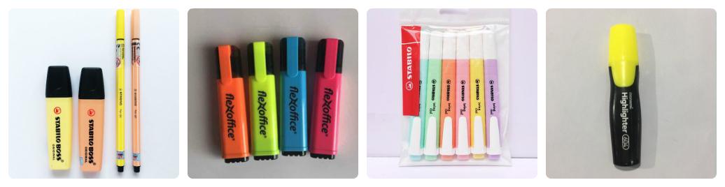 có những loại bút dạ quang nào