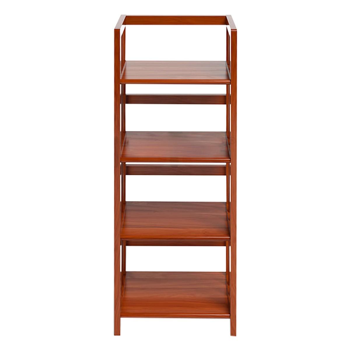 Kệ sách 4 tầng gỗ cao su Ibie KS440 40cm