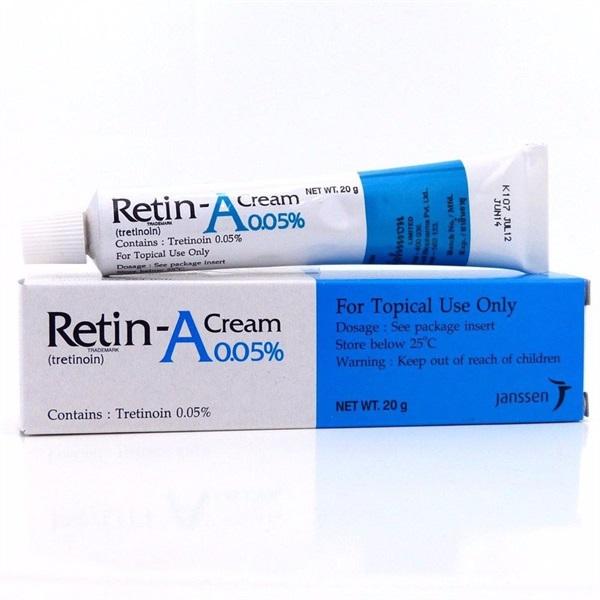 kem trị mụn ẩn retin a