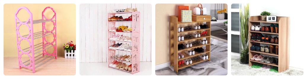 nên mua kệ để giày gỗ, vải hay nhựa hơn