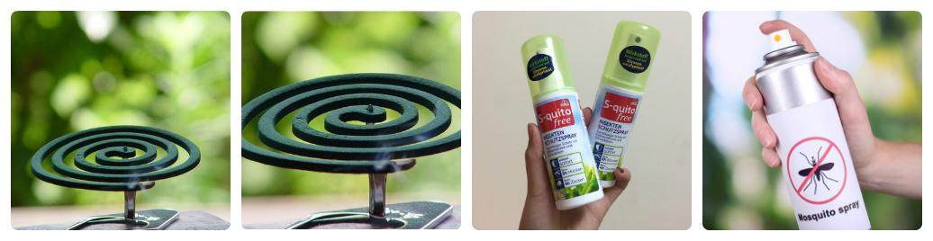 nên dùng bình xịt muỗi hay đốt nhang