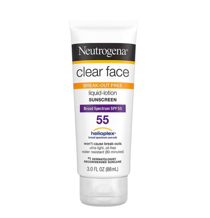 kem chong nang neutrogena clear face review