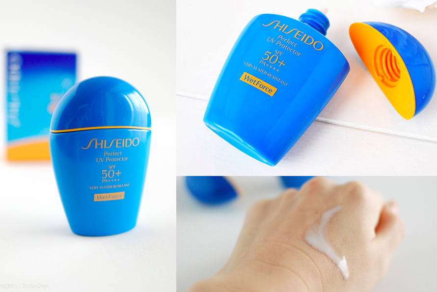 cảm nhận khi dùng kem chống nắng shiseido màu xanh
