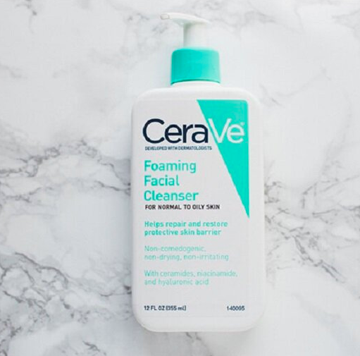 thiết kế cerave foaming facial cleanser