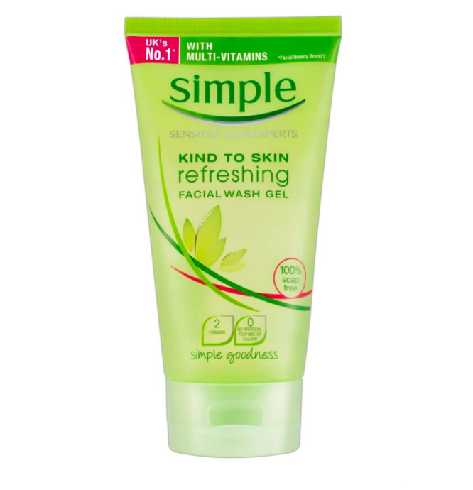 review simple kind to skin refreshing facial wash gel
