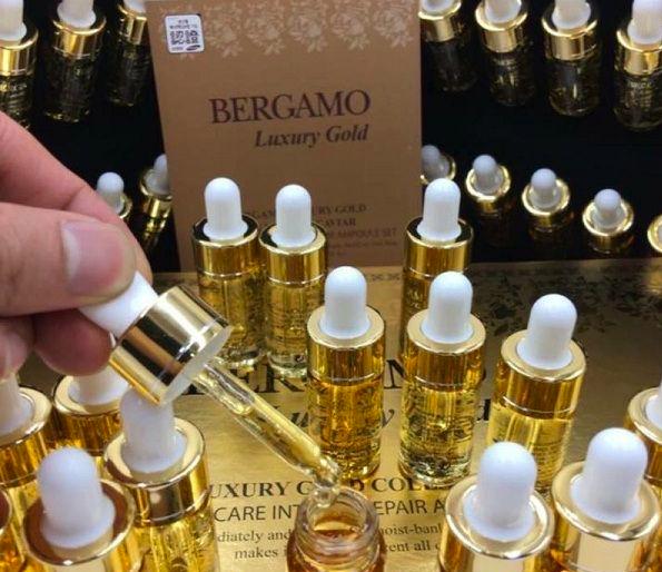 cảm nhận khi sử dụng serum bergamo luxury gold