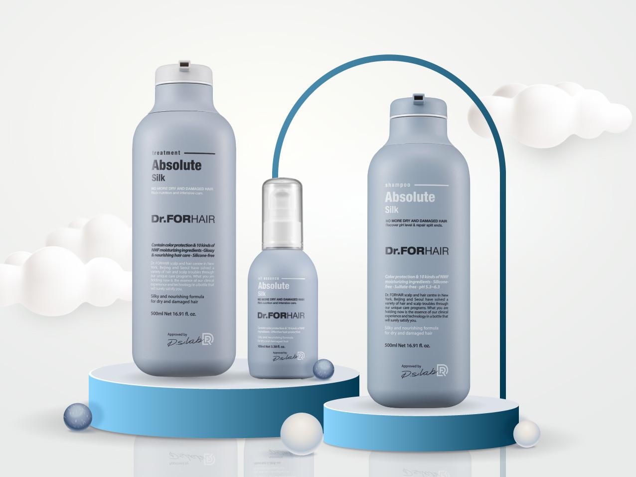 Bộ ba sản phẩm chăm sóc tóc hư tổn Dr. FORHAIR Absolute