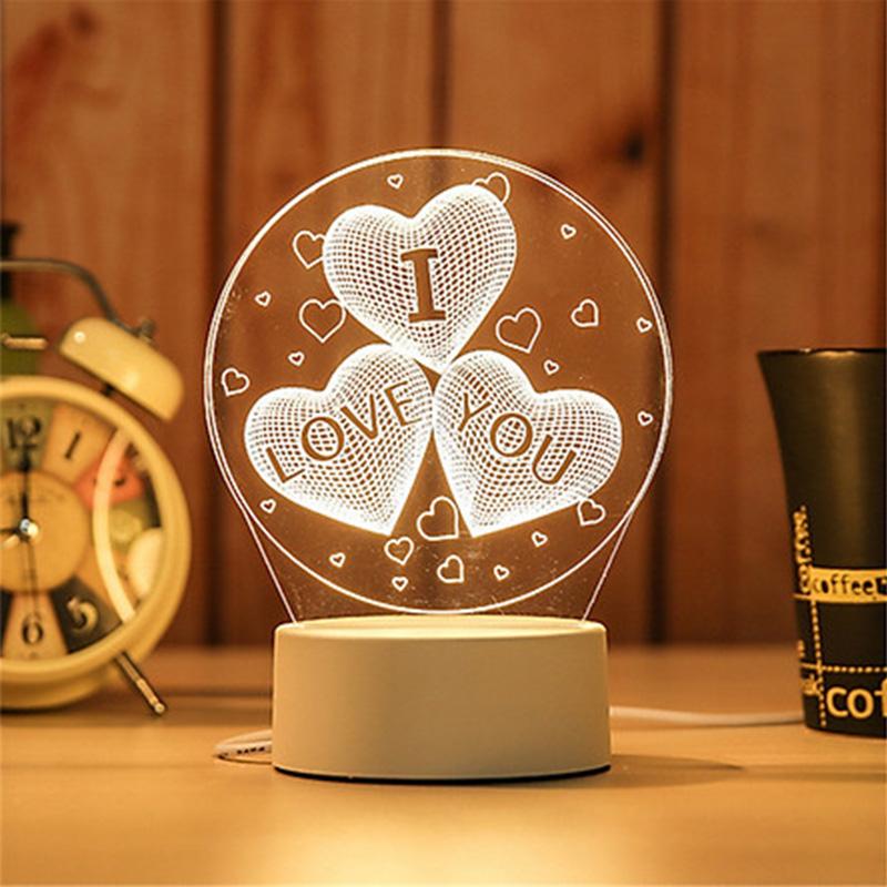 Đèn ngủ đèn trang trí giá rẻ Led 3D