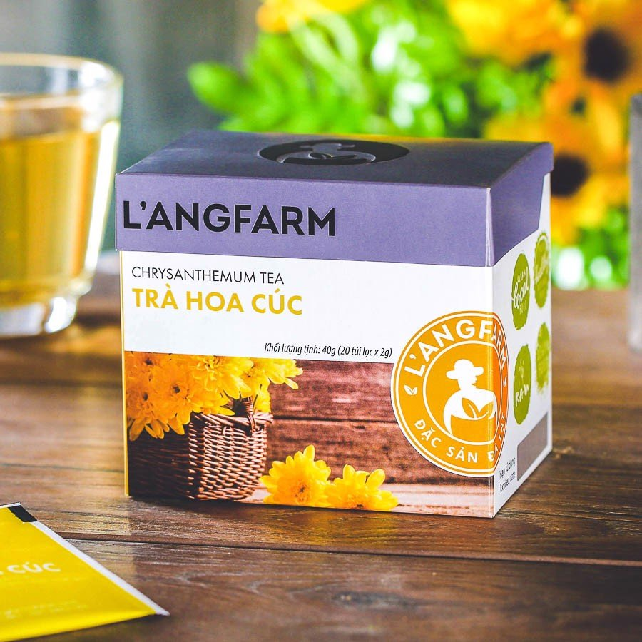 Trà hoa cúc túi lọc L'angfarm (20 tép/hộp)