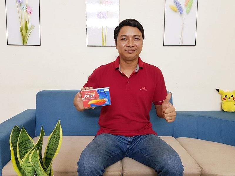 Anh Nguyễn Nhật Quang đã phục hồi bệnh dạ dày rất tốt sau khi dùng sản phẩm