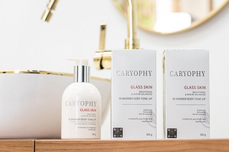 Bảng thành phần của kem dưỡng trắng da body Caryophy Glass Skin rất an toàn với làn da