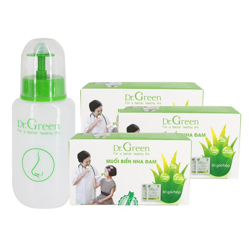 Bình xịt rửa mũi Dr Green có khả năng làm giảm các triệu chứng về đường hô hấp