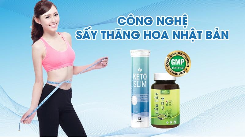 Bộ đôi sản phẩm Keto Slim giảm cân là lựa chọn tuyệt vời cho những ai muốn có thân hình mảnh mai