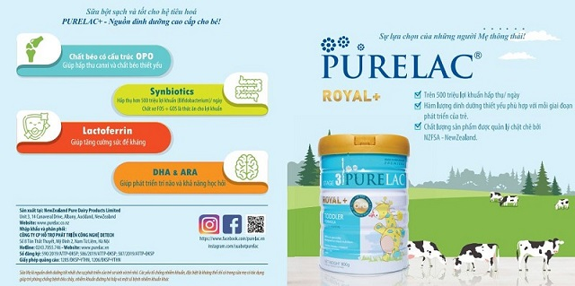Các thành phần có trong sữa bột Purelac