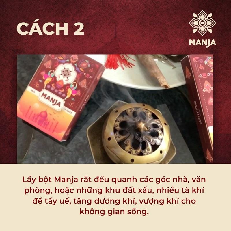 Có thể dùng bột phong thủy Manja để trừ tà khí, tẩy uế trong nhà
