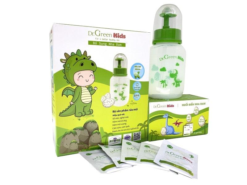 Dung dịch rửa mũi Dr Green được tạo nên từ thành phần thiên nhiên