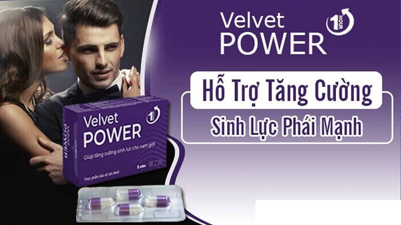 Hướng dẫn sử dụng Velvet Power 1H (viên uống một lần) an toàn, hiệu quả